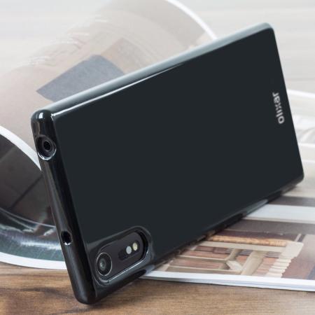 Olixar FlexiShield Sony Xperia XZs Gel Case - Solid Black