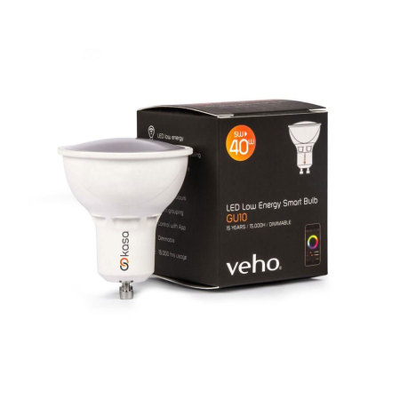 Veho Kasa Smart LED Bluetooth App-Controlled GU10 Light Bulb