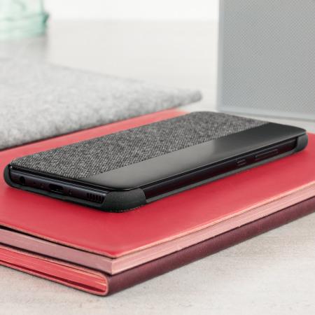 Official Huawei P10 Smart View Fodral - Mörkgrå