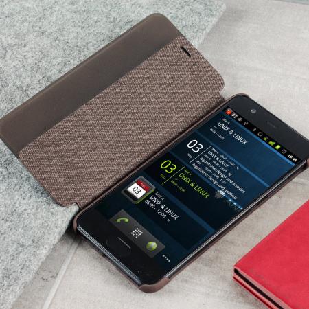 Funda Oficial Huawei P10 Smart View - Marrón