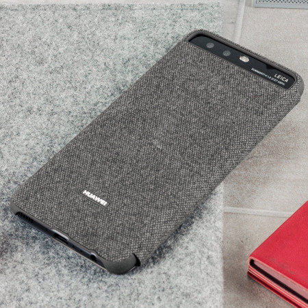 Official Huawei P10 Smart View Fodral - Ljusgrå