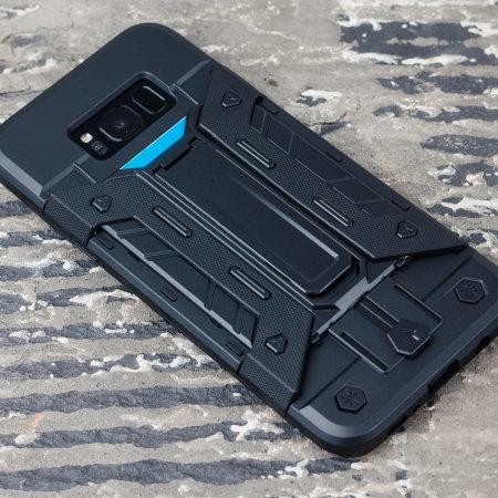 Samsung Galaxy S8 Tough Case - Olixar X-Trex with Kickstand