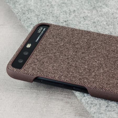 Official Huawei P10 Protective Fabric Case - Brown