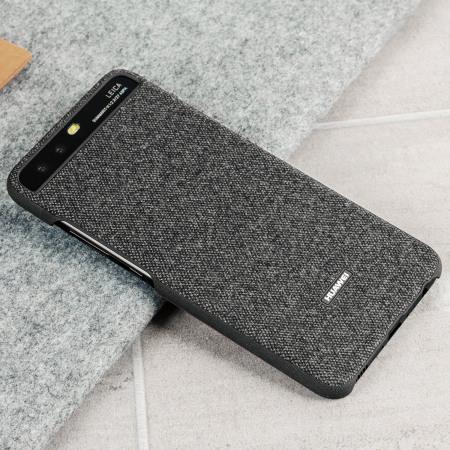 Official Huawei P10 Plus Protective Fabric Skal - Mörkgrå