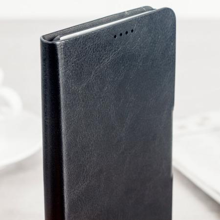 Olixar Leather-Style HTC U Ultra Wallet Stand Case - Black