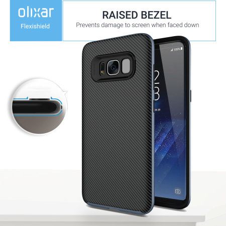 Olixar XDuo Samsung Galaxy S8 Case - Carbon Fibre Metallic Grey