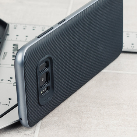 Olixar XDuo Samsung Galaxy S8 Plus Case - Carbon Fibre Metallic Grey