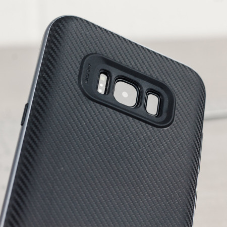 Olixar X-Duo Samsung Galaxy S8 Plus Case - Carbon Fibre Metallic Grey