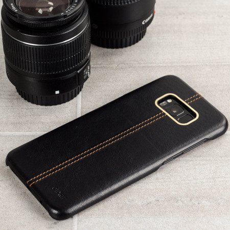 Olixar Premium Genuine Leather Samsung Galaxy S8  Plus Case - Black