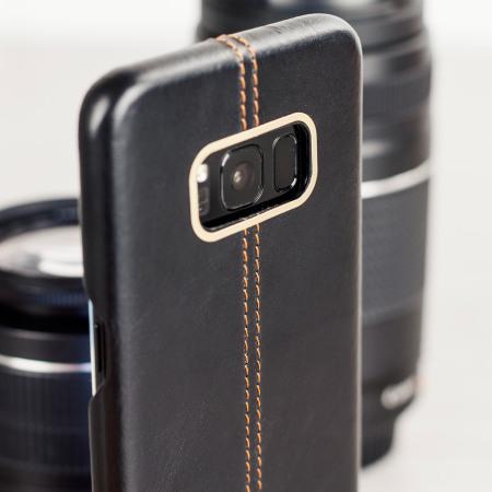 olixar premium genuine leather samsung galaxy s8 case black