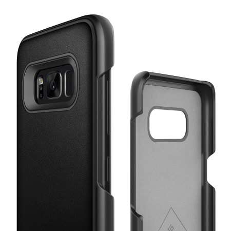 Caseology Fairmont Samsung Galaxy S8 Plus Leather-Style Case - Black