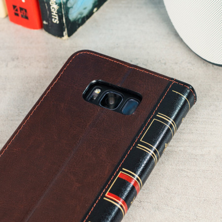 Olixar X-Tome Leather-Style Samsung Galaxy S8 Book Case - Brown