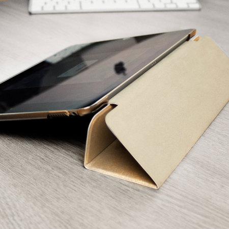 Olixar iPad 9.7 2017 Folding Stand Smart Case - Gold / Frost White