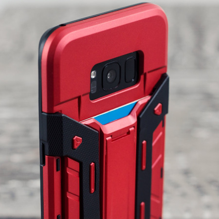 Olixar X-Trex Samsung Galaxy S8 Rugged Card Case - Red / Black