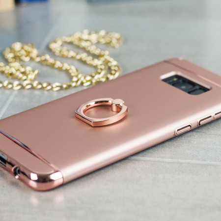 Olixar XRing Samsung Galaxy S8 Finger Loop Case - Rose Gold
