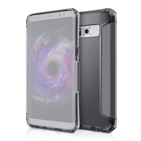 ITSKINS Spectra Vision Samsung Galaxy S8 Clear Flip Case - Black