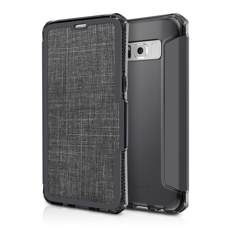 ITSKINS Spectra Samsung Galaxy S8 Plus Leather-Style Case - Black
