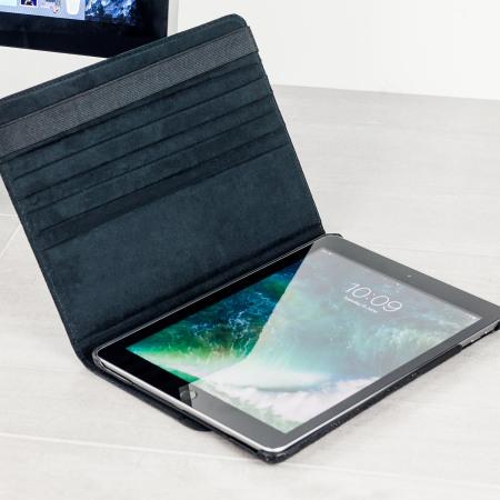 Olixar Floral Pattern Rotating iPad 2017 Smart Case - Black