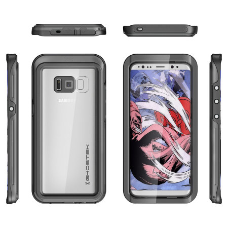 Ghostek Atomic 3.0 Samsung Galaxy S8 Plus Waterproof Case - Black
