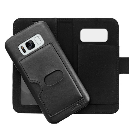 Prodigee Wallegee Samsung Galaxy S8 Wallet & Hard Case - Black