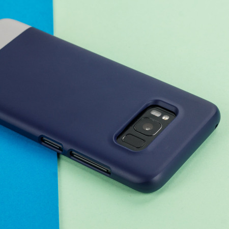 Prodigee Accent Samsung Galaxy S8 Plus Case - Navy / Silver