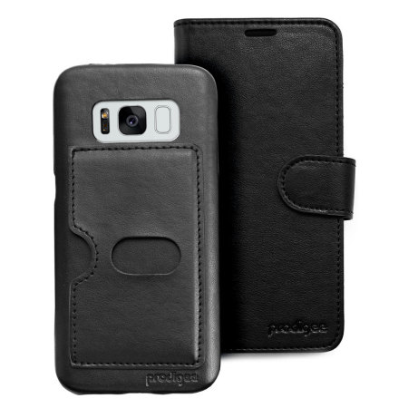 prodigee wallegee samsung galaxy s8 plus wallet hard case black fact