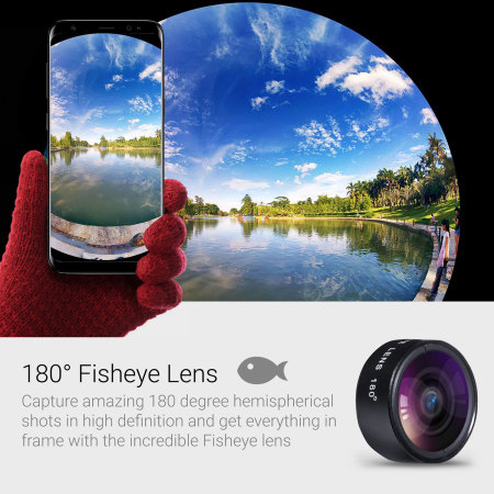 Kit de lentes de cámara HD Universal Clip Olixar Premium 3-in-1 Universal