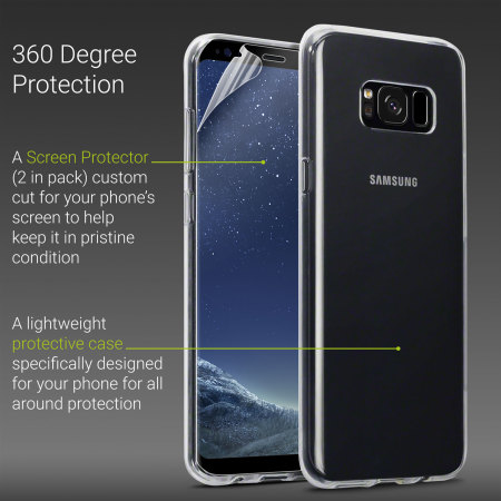 Olixar Total Protection Samsung Galaxy S8 Plus Case & Screen Protector