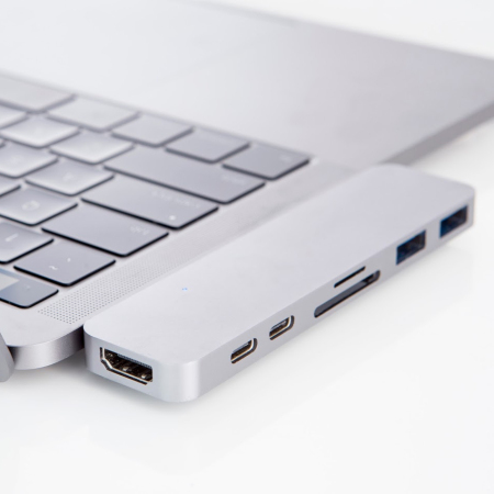HyperDrive Compact Thunderbolt 3 USB-C MacBook Pro Hub - Silver