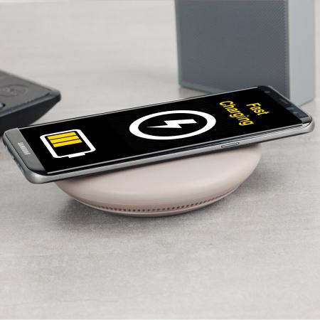 Chargeur sans fil rapide Officiel Galaxy S8 Convertible – Marron