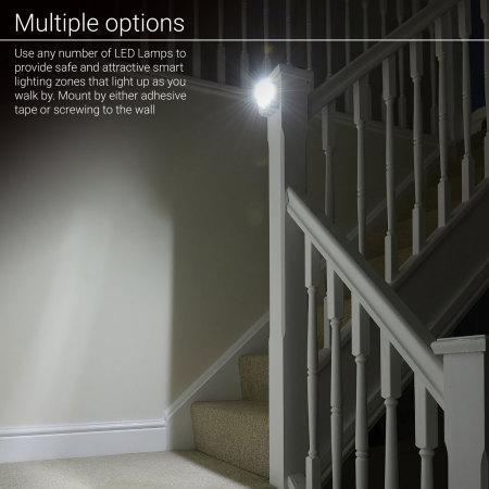 AGL Wireless LED PIR Motion Sensor Handy Lamp Night Light - 2 Pack