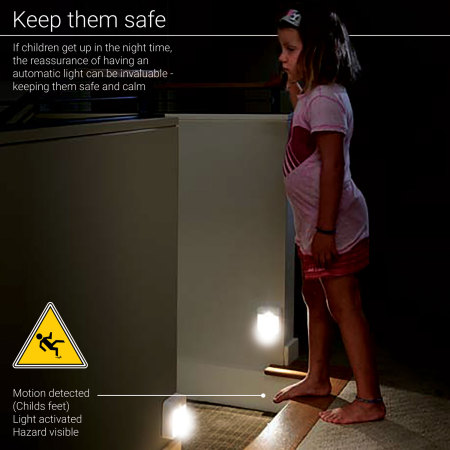 AGL Wireless LED PIR Motion Sensor Handy Lamp Night Light - 4 Pack