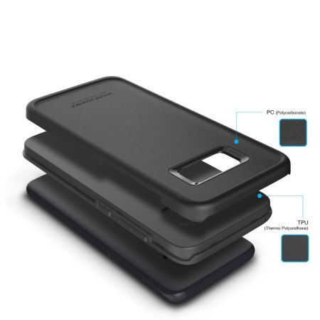 Obliq Skyline Advance Samsung Galaxy S8 Case - Black / Grey