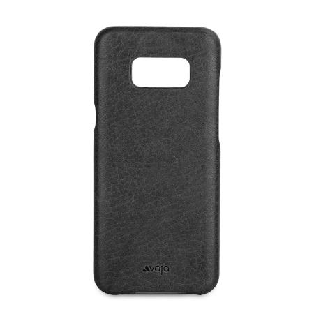 Vaja Grip Samsung Galaxy S8 Plus Premium Leather Case - Black