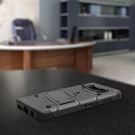 Zizo Bolt Series Samsung Galaxy S8 Tough Case & Belt Clip - Black