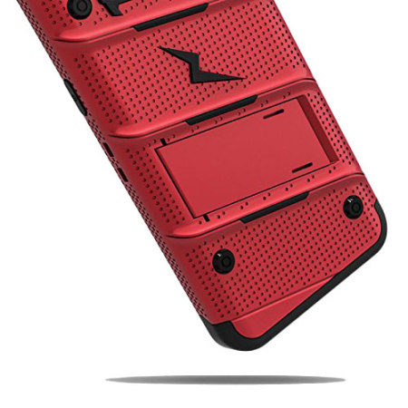 moreeven zizo bolt series samsung galaxy s8 plus tough case belt clip red Cricket