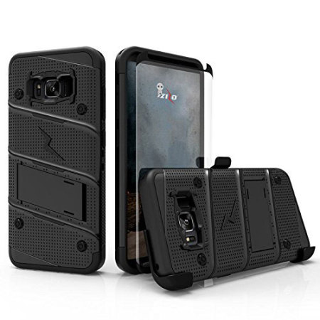 finest selection 2e3a4 1153a Zizo Bolt Series Samsung Galaxy S8 Plus Tough Case & Belt Clip - Black