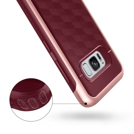 Caseology Parallax Series Samsung Galaxy S8 Case - Burgundy