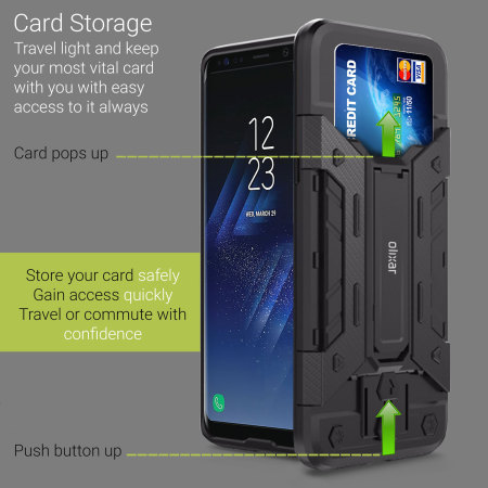 Olixar Extreme Protection Galaxy S8 Case & Glass Screen Protector
