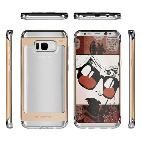 Ghostek Cloak 2 Samsung Galaxy S8 Aluminium Tough Case - Clear / Gold