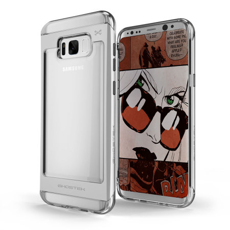 Ghostek Cloak 2 Samsung Galaxy S8 Aluminium Tough Case - Clear/Silver