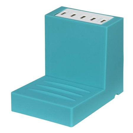 I-Star 10.6A 5 Port USB Hub Bookend Charger