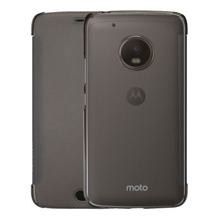 buy popular fd938 c4a15 Official Motorola Moto G5 Plus Touch Flip Cover - Smoke Black