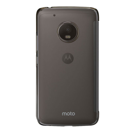 buy popular 370c6 3cd86 Official Motorola Moto G5 Plus Touch Flip Cover - Smoke Black