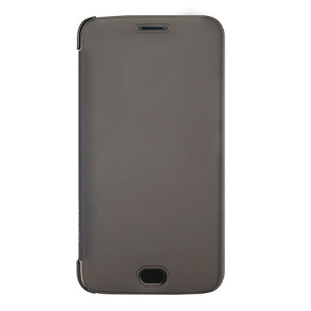 buy popular 3e9c5 4b973 Official Motorola Moto G5 Plus Touch Flip Cover - Smoke Black
