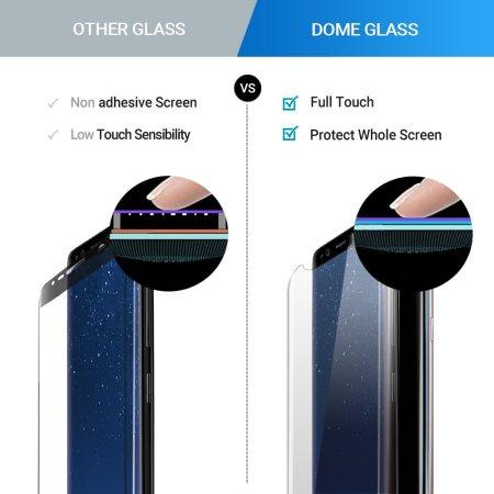 whitestone dome glass samsung galaxy s8 full cover screen protector essential