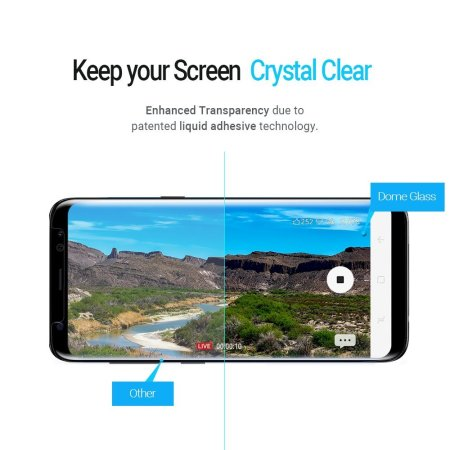 Whitestone Dome Glass Samsung Galaxy S8 Plus Fullt Skärmskydd