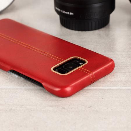 Funda Samsung Galaxy S8 Olixar Premium Piel Genuina - Roja