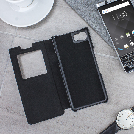 buy online 520dd 532b2 Official BlackBerry KEYone Smart Flip Case - Black
