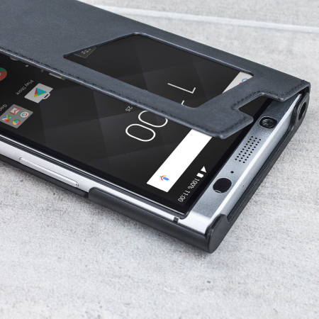 buy online 783ff 39bec Official BlackBerry KEYone Smart Flip Case - Black